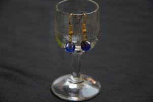 Oorbel - Blauw Goud €9/paar