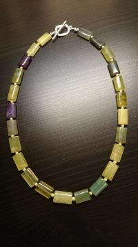 Ketting Olive Jade - €29,00