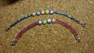 Mogelijk in alle vormen en kleuren €7,50 per armbandje