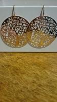 Oorbellen met boom in roze-goud €11,00 per paar
