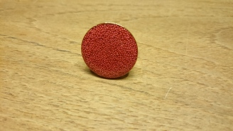 Roze gouden ring bewerkt met hars en roze dots €18,00 per ring Op bestelling